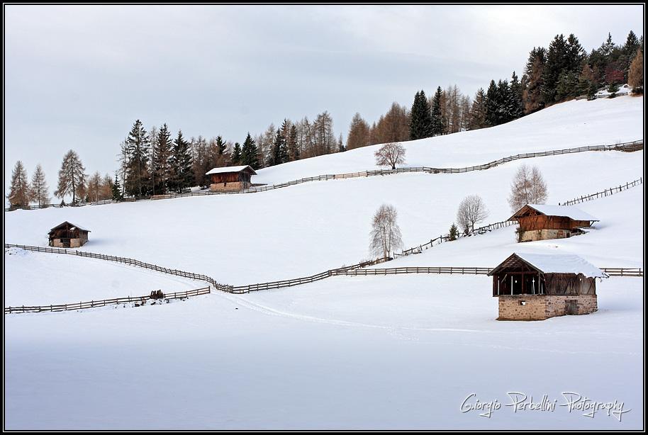Neve sulle baite di Verano