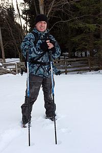 Max Vaccari in tenuta invernale. © G. Perbellini 2009