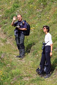 Max e Sara lungo il sentierino che conduce al Franzenshöhe
