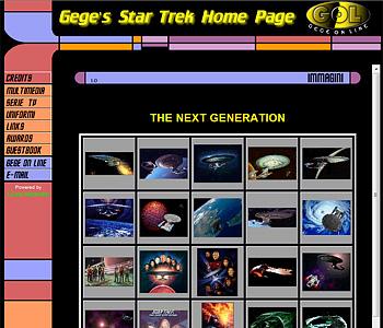 """La """"Gege's Star Trek Home Page"""" che nel 1998/99 ha dato origine a tutto..."""